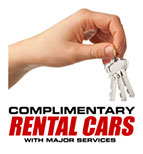 Complimentary rental cars