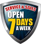 Sales and Service open seven days a week