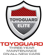 Toyoguard three-year maintenance on all new cars