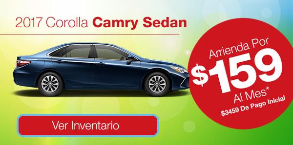 2017 Camry Sedan Arrienda Por $159 Al Mes* $3459 De Pago Inicial