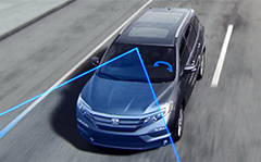 Illustration demonstrating Lane Keeping Assist System