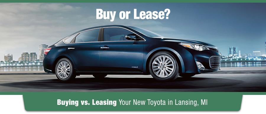 Buying vs. Leasing Your New Toyota in Lansing, MI
