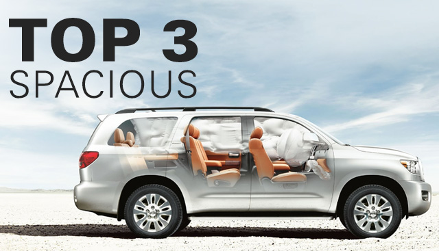 Top 3 Most Spacious Toyota Models