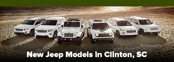 New Jeep Models in Clinton, SC
