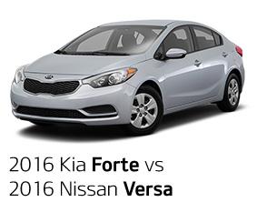 2016 Kia Forte vs. 2016 Nissan Versa