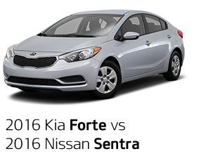 2016 Kia Forte vs 2016 Nissan Sentra