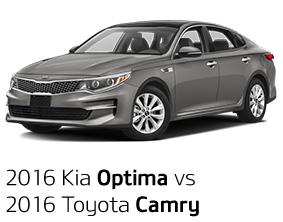 2016 Kia Optima vs. 2016 Toyota Camry
