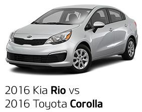 2016 Kia Rio vs. 2016 Toyota Corolla
