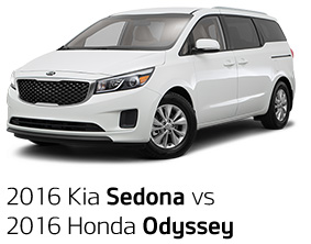 2016 Kia Sedona vs. 2016 Honda Odyssey