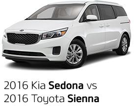 2016 Kia Sedona vs. 2016 Toyota Sienna