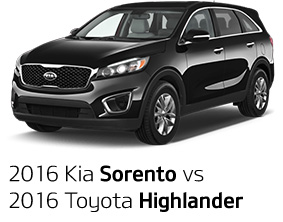 2016 Kia Sorento vs. 2016 Toyota Highlander