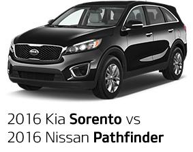 2016 Kia Sorento vs. 2016 Nissan Pathfinder