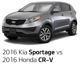 2016 Kia Sportage vs. 2016 Honda CR-V