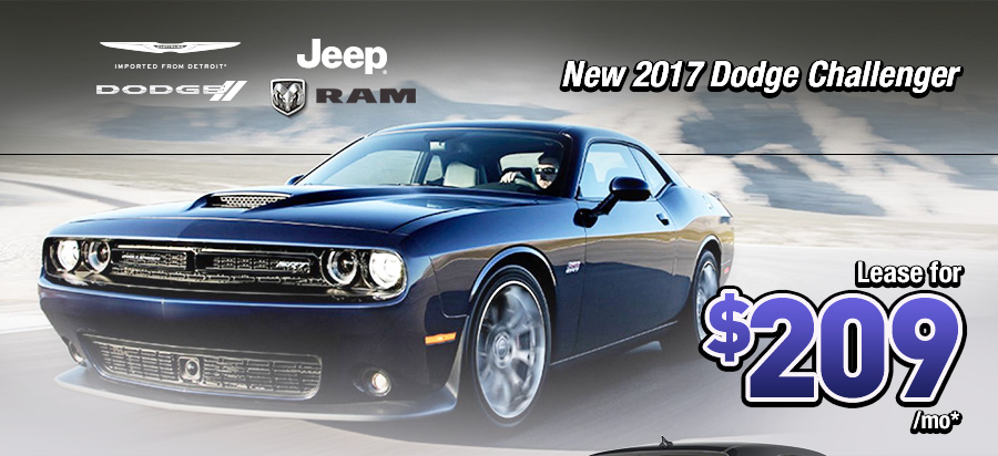 NEW 2017 DODGE CHALLENGER LEASE FOR $209/MO
