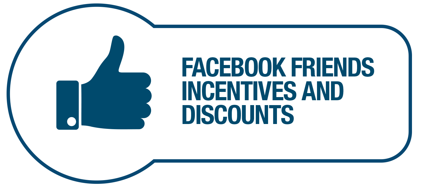 Facebook friends Incentives and Discounts