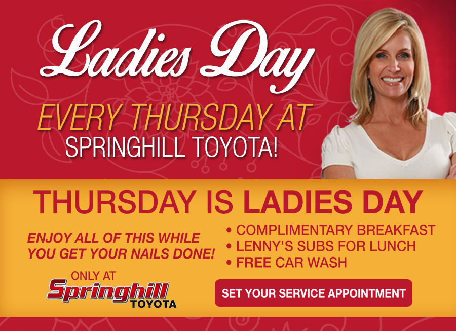 Ladies Day At Springhill Toyota Service Center