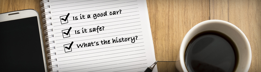 Used Car Buyers Checklist in McConnellsburg, PA