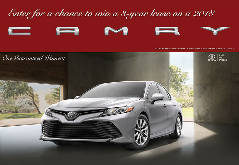 New 2018 Toyota Camry Giveaway | York PA | Near Hanover, Lancaster And  Elizabethtown