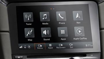 car technology Media Phone Nav Tuner Tp) Sound Apps Apple Carplay Map 데01 Mena Apps Myscreen Set