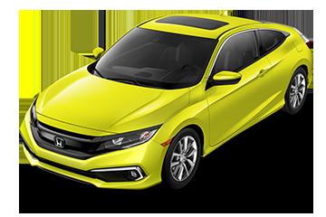 2019 Honda Civic Coupe EX Yellow